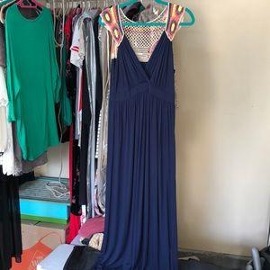 Gilli Deep Blue Maxi Dress
